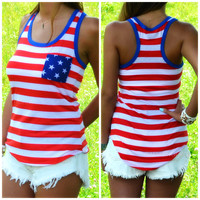 Home of the Brave Racerback Tank