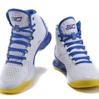 Under Armour Curry White /Blue    Basketball Shoes