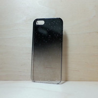 iphone 5 / 5s 3D water droplets hard plastic case - Black
