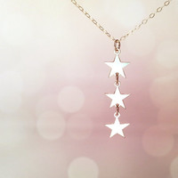 Silver sister necklace star shape