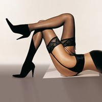 Buy Wolford Luxury Lingerie - Wolford Affaire 10 Stocking  | Journelle Fine Lingerie
