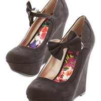 ModCloth Bow the Distance Wedge