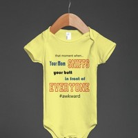 THE AWKWARD MOMENT WHEN MOM SMELLS YOUR BUTT BABY HUMOR FUNNY BODYSUIT