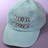 Beat It, Creep! Light Blue Baseball Cap