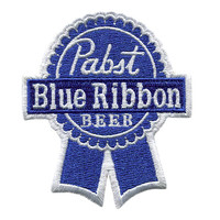 Awesome Large Pabst Blue Ribbon Beer Patch 8cm Badge for Hat Cap Jacket