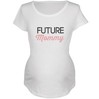 Future Mommy White Maternity Soft T-Shirt