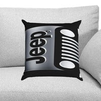 Jeep Custom Pillow Case for One Side and Two Side