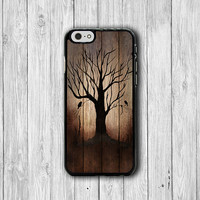 Dark Wood Tree Burned Wooden iPhone 6 Cover, Art Lonely Halloween iPhone 6 Plus, iPhone 5 / 5S iPhone 5C Cases iPhone 4/4S Accessory Gift