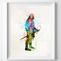 Aragorn Print, Lord of the Rings, Watercolor Art, Illustration, Modern Home Decor, Giclee, Children Room Art, Back To School