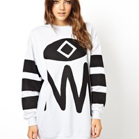 ASOS Sweatshirt with Abstract Face