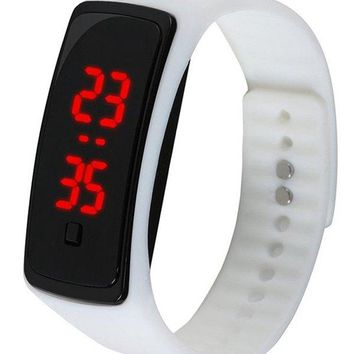 LED Digital Display Silicone Watch