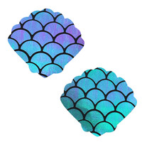 Mischievous Mermaid Iridescent Shell Nipztix Pasties Nipple Covers