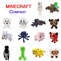 Minecraft Plush Toys Enderman Ocelot Pig Sheep Bat Mooshroom Squid Spider Wolf Animal soft stuffed dolls kids toy gift