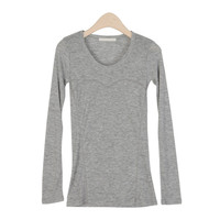 Chest Lined Slim Fit T-Shirt by Stylenanda