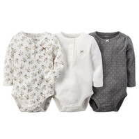 3-Pack Long-Sleeve Bodysuits