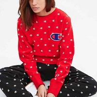 Champion Repeat Print Sweatshirt in Red - Urban Outfitters