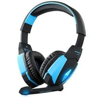 GranVela® G4000 Gaming Headset USB Stereo Headphones with Enhanced Bass, In-line Control, LED Lighting and Microphone for PS4, Computer Game -Blue