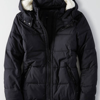 AEO Quilted Parka , True Black