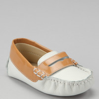 White & Tangerine Color Block Patent Loafer   zulily