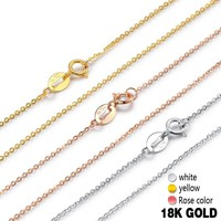 18k Pure Gold Necklace Snake Chain Diamond-jewelry Upscale Real Solid 750 Chain