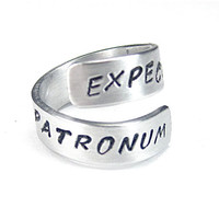 EXPECTO PATRONUM- Harry Potter Quote Ring- Protection Ring
