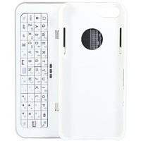 Poetic Shift Sliding and standing Detachable bluetooth Keyboard Case for iPhone 5/iPhone 5S White
