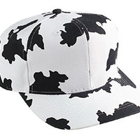 Cow Pattern Cotton Twill Pro Style Cap