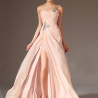 A-Line One Shoulder Sweep Train Chiffon Prom Dresses / Evening Dresses [006-1223-1941] - $145.59 : Always More Discount at Dresslee - Affordable Wedding Dresses and Cheap Prom Dresses 2015, Mila Prom | Cheap Wedding Dresses 2015 and Discount Prom Dresses f