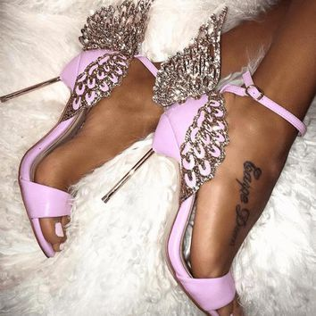 You Give Me Butterflies Rhinestone Sandals