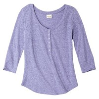 Mossimo Supply Co. Juniors 3/4 Sleeve Snap Henley - Assorted Colors