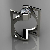 AMAZING 4.32CT WHITE ROUND 925 STERLING SILVER ENGAGEMENT AND WEDDING RING
