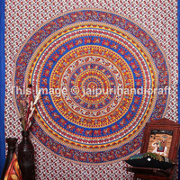 Hippy Elephant Tapestry, Mandala Wall Hanging, Indian Bedspread Throw Bohemian Art, Elephant Tapestries, Mandala Tapestries, Indian Mandala