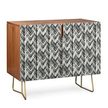Pimlada Phuapradit Zig zag stripes black and white Credenza