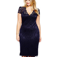 Lixmee lace V neck sexy women dresses