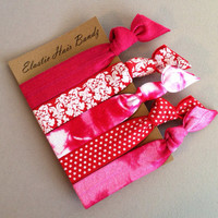 The Riley Hair Tie-Ponytail Holder Collection - 5 Elastic Hair Ties by Elastic Hair Bandz on Etsy
