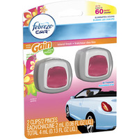 Walmart: Febreze Car Vent Clips with Gain Scent Island Fresh Air Freshener, 0.06 fl oz, 2 count