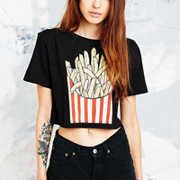 Bone White French Fries Crop Top - Urban Outfitters