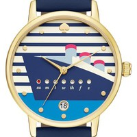kate spade new york 'metro' leather strap watch, 34mm | Nordstrom