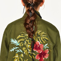 PARKA WITH BACK EMBROIDERY DETAILS