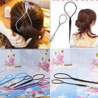 New 2pcs/pack Fashion Girl's Magic Styling Accessories Tools Hair Styling Multi Function Hair Tools Care Pattern Plate Pull Pins