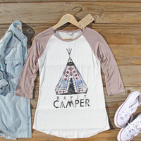 Happy Camper Baseball Tee