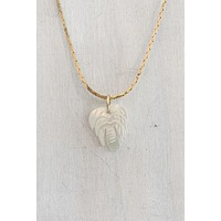 CNJ Vintage Pearl Palm Necklace