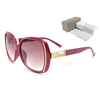 DIOR Popular Women Men Personality Summer Sun Shades Eyeglasses Glasses Sunglasses Frame Hollow Red I-MYJ-YF