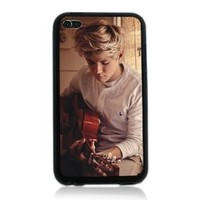 Niall Horan One Direction Pc Back Plus Soft Black TPU Edges Hard Case Cover for Itouch 4 Ipod Touch 4 4th Generation