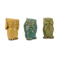 IMAX 69230-3 Wise Owls, Set of 3