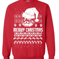 Meowy Christmas Funny Cat Ugly Sweater