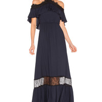 Alice + Olivia Mitsy Gown in Indigo & Black