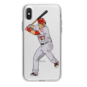 MIKE TROUT ANGELS CUSTOM IPHONE CASE