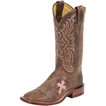 Women's Tony Lama Pink Cross Cowgirl Boots