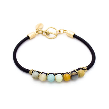 Bubbles leather bracelet
